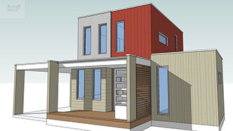 Sketchup model container house